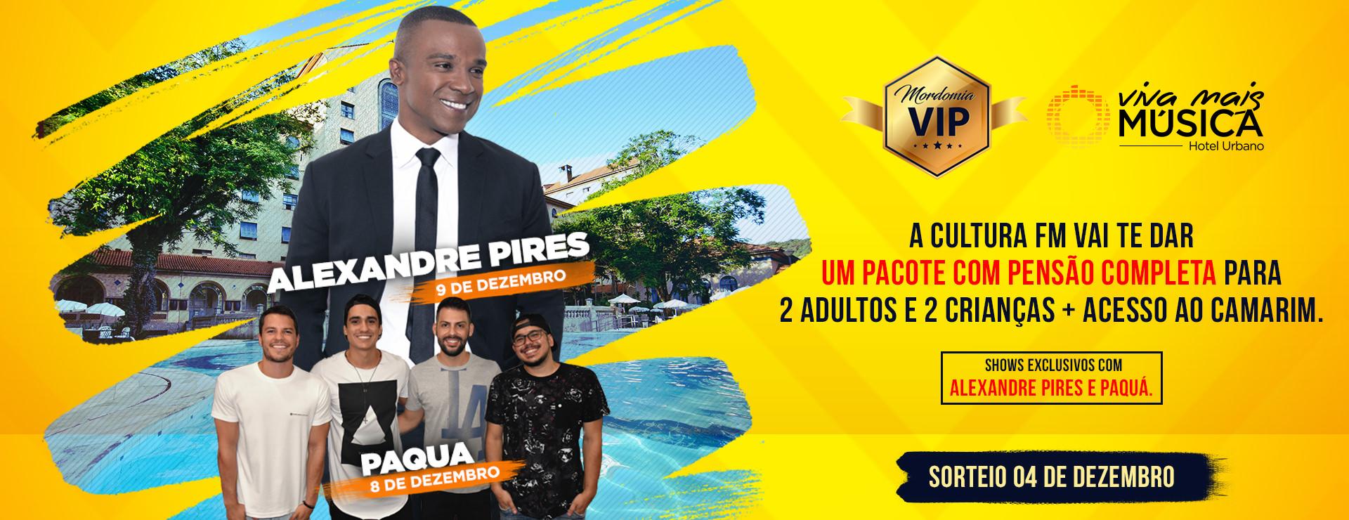 Promoção Mordomia VIP Cultura FM e Viva Mais Música.