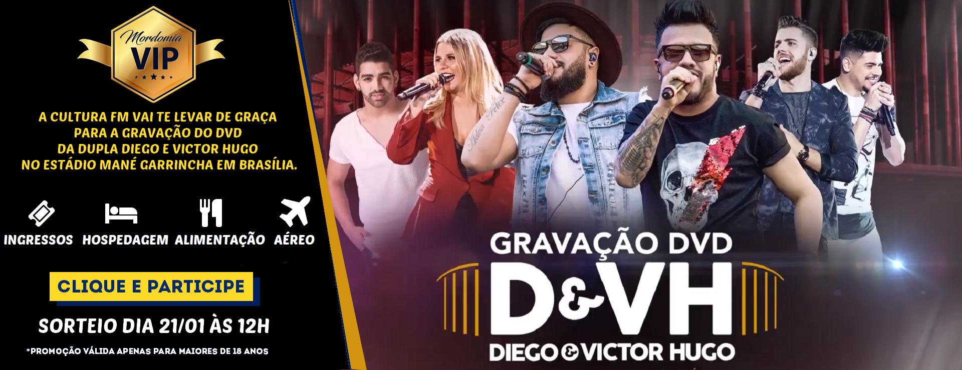 """PROMOÇÃO """"MORDOMIA VIP NA GRAVAÇÃO DO DVD DIEGO E VICTOR HUGO"""""""