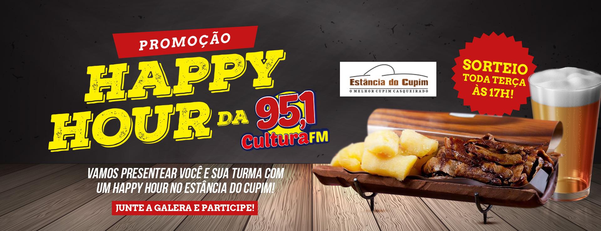 Promoção happy hour da cultura FM