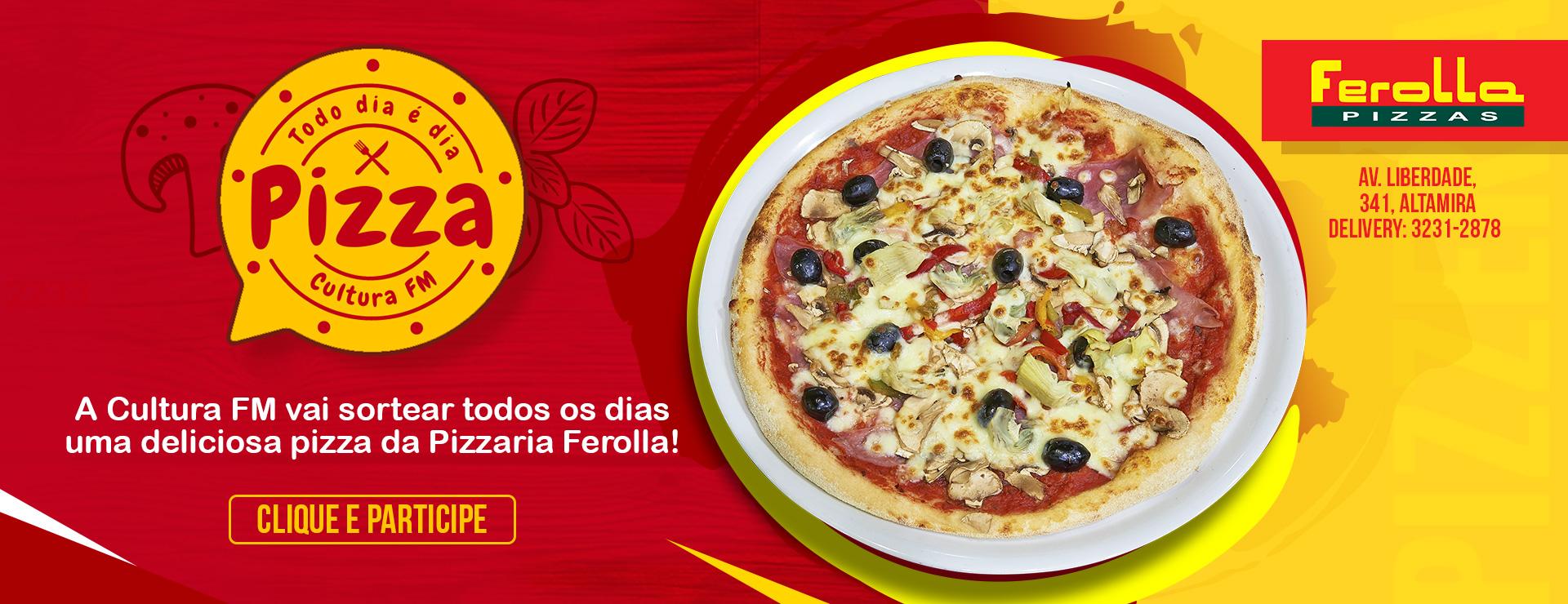 PROMOÇÃO DIA DE PIZZA CULTURA FM